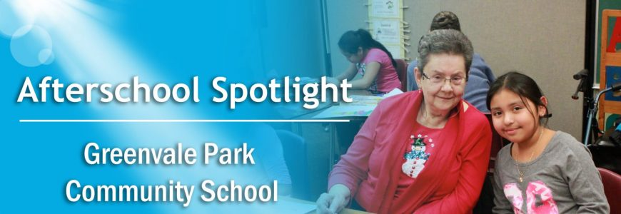 The Afterschool Spotlight features a woman and her daughter from the Greenvale Park Community School as its main focus.